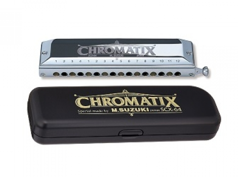 SUZUKI CHROMATIC HARMONICA 16 HOLE SCX-64
